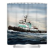 Tugboat Island Champion Shower Curtain by James Williamson