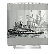 Tugboat Martha Foss Shower Curtain