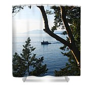 Tugboat Passes Shower Curtain