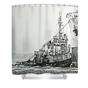Tugboat Richard Foss Shower Curtain