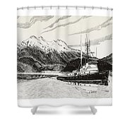 Skagit Chief Tugboat Shower Curtain