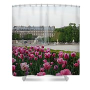 Tuileries Garden In Bloom Shower Curtain by Jennifer Ancker