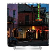 Tujagues At Night In New Orleans Shower Curtain