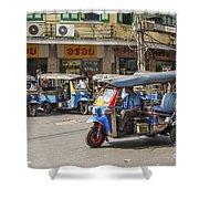 Tuk Tuk Taxis In Bangkok Thailand Shower Curtain