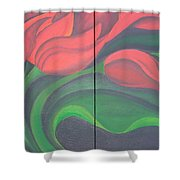 Tulip Diptych Shower Curtain