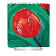 Tulip Diva By Jrr Shower Curtain by First Star Art