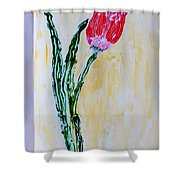 Tulip For You Shower Curtain