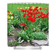 Tulip Gardenscape Shower Curtain