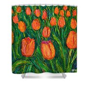 Tulip Twirl Shower Curtain