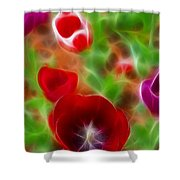 Tulips-6915-fractal Shower Curtain