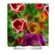 Tulips-6944-fractal Shower Curtain