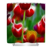Tulips-7069-fractal Shower Curtain