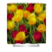 Tulips-7106-fractal Shower Curtain