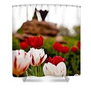 Tulips Ani Tsalagi Shower Curtain