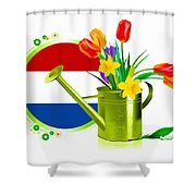 Tulips Eco Shower Curtain