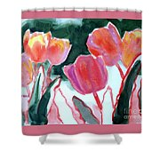 Tulips For The Love Of Patches Shower Curtain