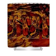Tulips In Acryl Collage Shower Curtain