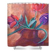 Tulips In Pitcher Shower Curtain