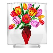 Tulips In The Vase Shower Curtain