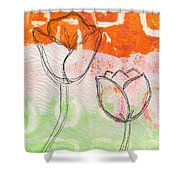 Tulips Shower Curtain by Linda Woods