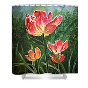 Tulips On Fire Shower Curtain