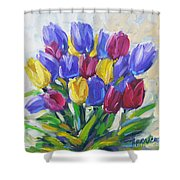 Tulips Time Love The Spring By Prankearts Shower Curtain