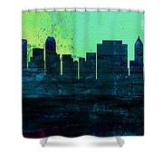 Tulsa City Skyline Shower Curtain