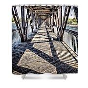 Tulsa Pedestrian Bridge Shower Curtain by Tamyra Ayles