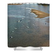 Tulsa River View Shower Curtain