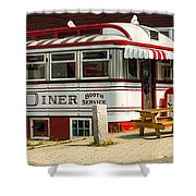 Tumble Inn Diner Claremont Nh Shower Curtain by Edward Fielding