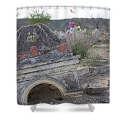 Tumbling Tombstone Shower Curtain