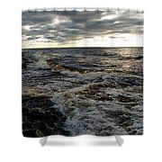 Tumultious Waters Shower Curtain