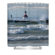 Tumultuous Lake Shower Curtain