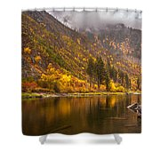 Tumwater Canyon Fall Serenity Shower Curtain