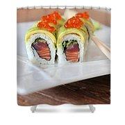 Tuna Sushi With Caviar  Shower Curtain