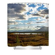 Tundra Burst Shower Curtain by Chad Dutson