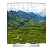 Tundra View From Eielson Visitor's Center In Denali Np-ak  Shower Curtain