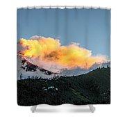 Tungurahua Blowing Off Steam Shower Curtain