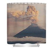 Tungurahua Volcano Erupting Shower Curtain