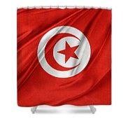Tunisia Flag Shower Curtain