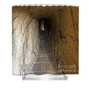Tunnel At Meteora Monastery   #9763 Shower Curtain