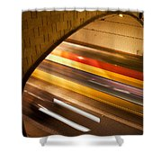 Tunnel Light Trails Shower Curtain