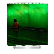 Green Tunnel Of Light  Shower Curtain