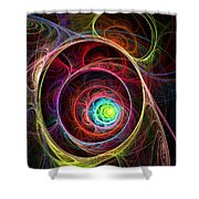 Tunnel Of Lights Shower Curtain