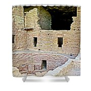 Tunnel Opening In Kiva Of Spruce Tree House On Chapin Mesa In Mesa Verde National Park-colorado  Shower Curtain