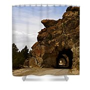 Tunnel Road Shower Curtain