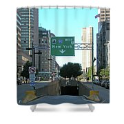 Tunnel To New York 2929 Shower Curtain