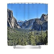 Tunnel View At Yosemite Shower Curtain