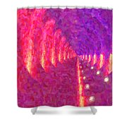 Tunnel Vision Shower Curtain by Kenny Francis
