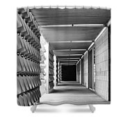 Tunnel Vision Palm Springs City Hall  Shower Curtain